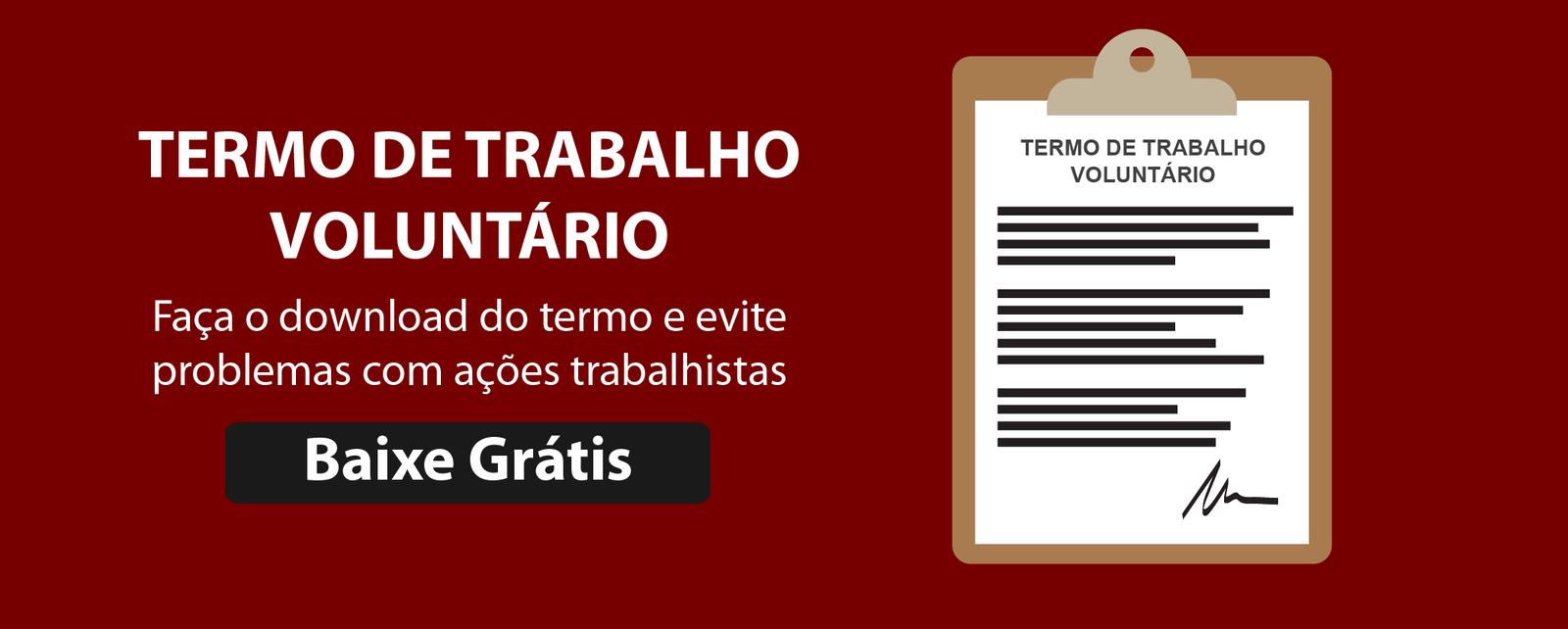 TERMO DE TRABALHO VOLUNTARIO